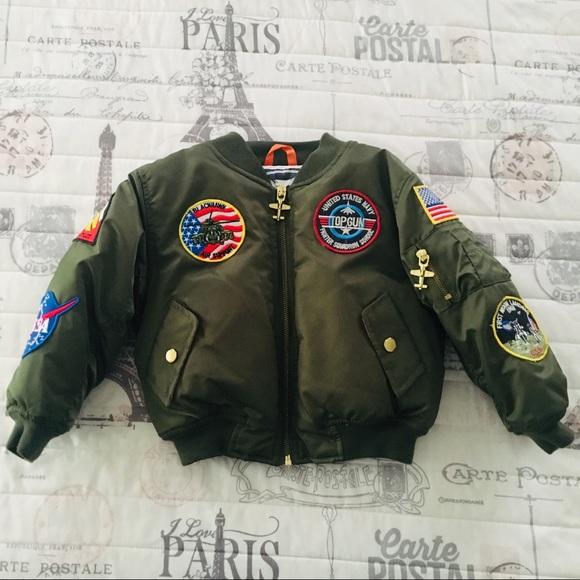 Up and Away Boys MA-1 Flight Jacket